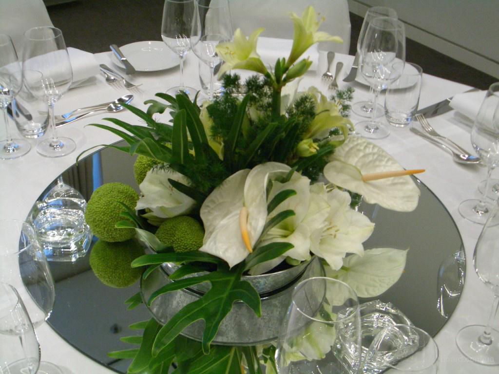 Флористическое оформление свадьбы, банкета