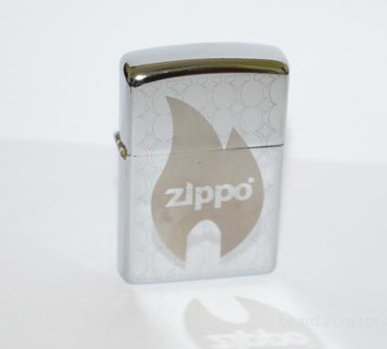 Зажигалка Zippo класик с гравировкой в серебре