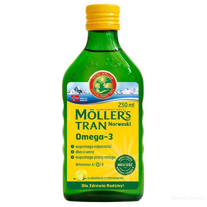 Möller's Tran рыбий жир с цитрусовым вкусом