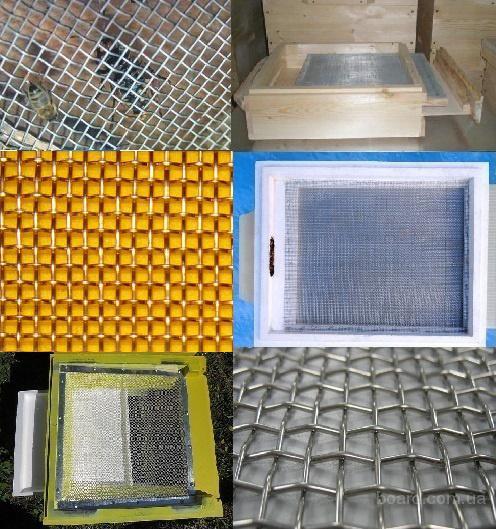 Сетка для пчеловодства нержавейка латунь 1х1-3х3мм для вентиляции ульев, защиты улья от шершней, трутней, клещей, удаления мусора и лишних компонентов