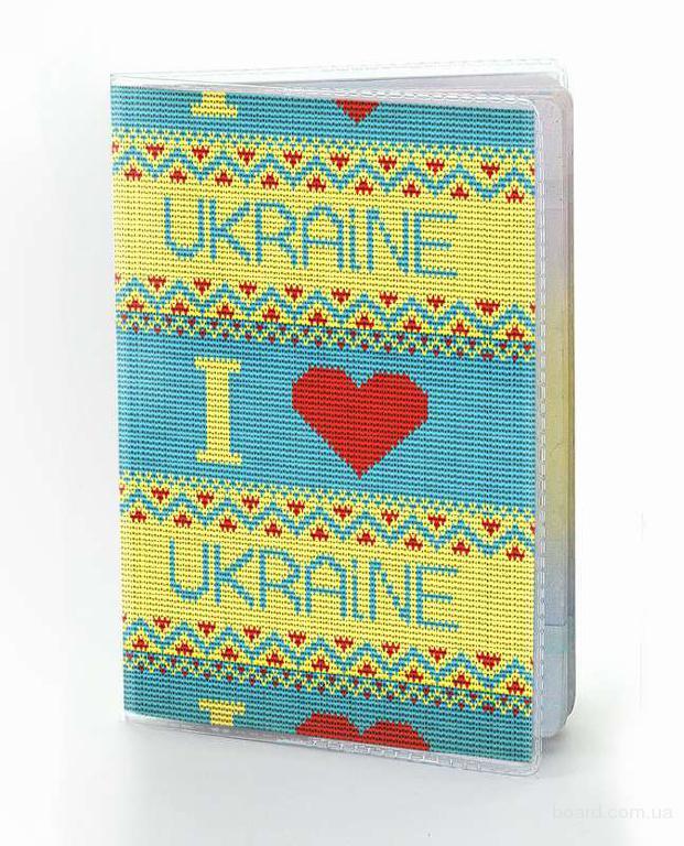 """Обкладинка на паспорт """"В'язана"""" вінілова"""