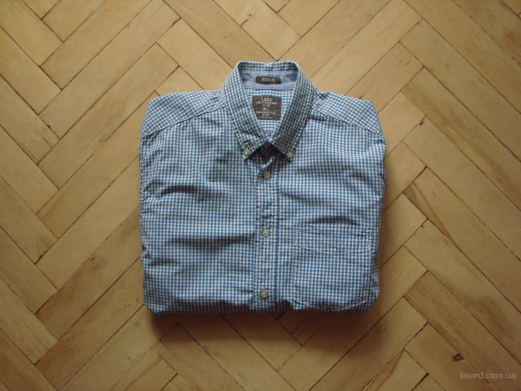 Клеточка клітинка фірмова, фирменая сорочка, рубашка (H&M)