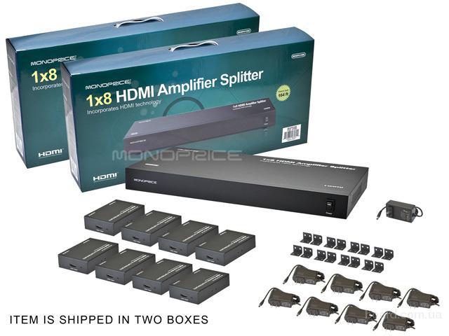 HDMI усилитель-сплиттер 1x8