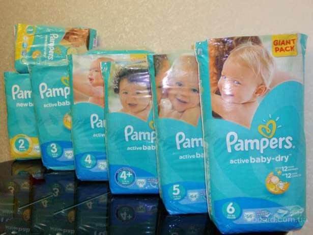 "Продам оптом подгузники Памперсы ""Pampers Active Baby Giant Pack"""