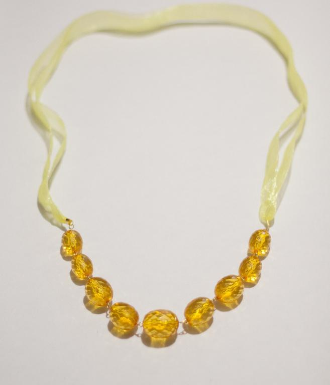 Солнечное ожерелье ручной работы