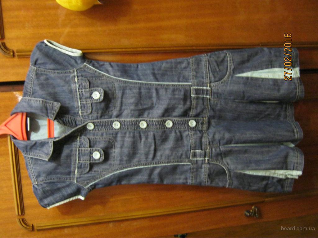 Летний джинсовый сарафан платье