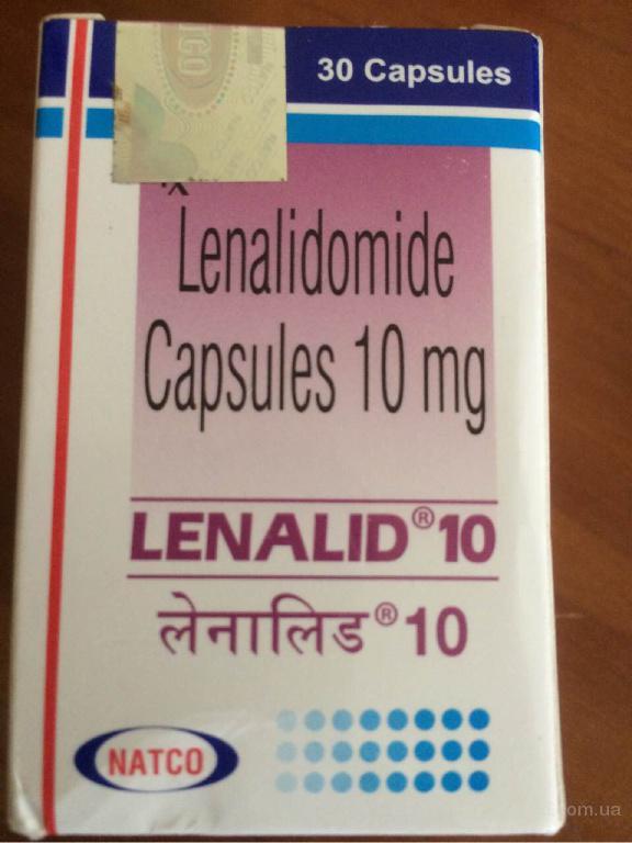 Lenalid (lenalidomide) 10 mg, Revlimid, Ревлимид (Леналидомид)