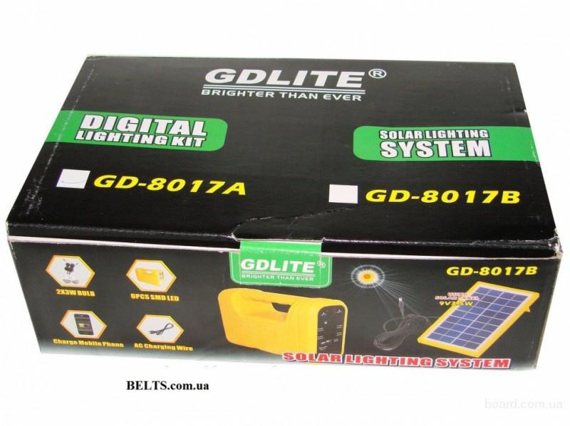 Киев.Солнечный набор GD LITE GD-8017 (Лампа-фонарь с аккумулятором), солнечная система
