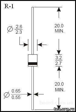 Продам диод 1A7  (1А, 1000В)  0,4 грн