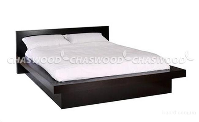 Двуспальная кровать Соната из натурального дерева