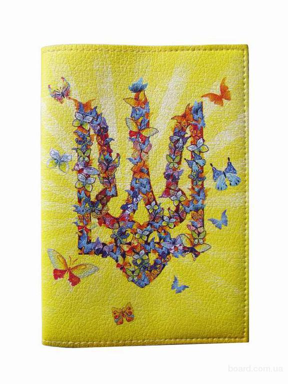 """Обкладинка на паспорт """"Метелики"""" еко"""