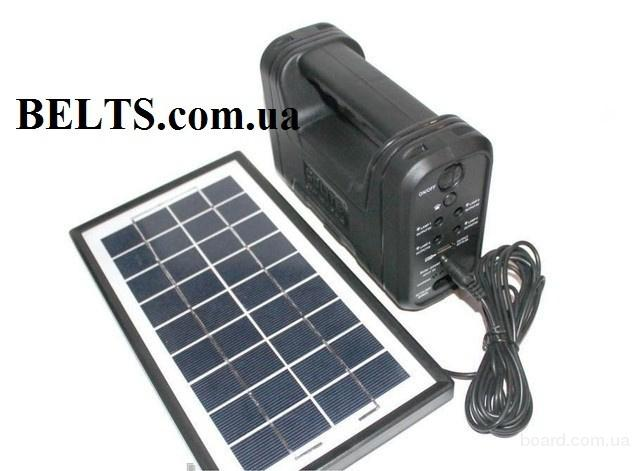 Продам.Фонарик GD-8038 с аккумулятором, солнечной батарей, 4 подвесным лампочки, переходниками (солнечная система GD 8038)
