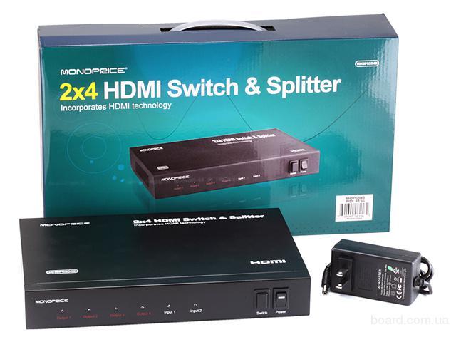 Матричный коммутатор HDMI 2×4