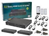 Матричный коммутатор HDMI 4×2 сат5/6 на 40 метров