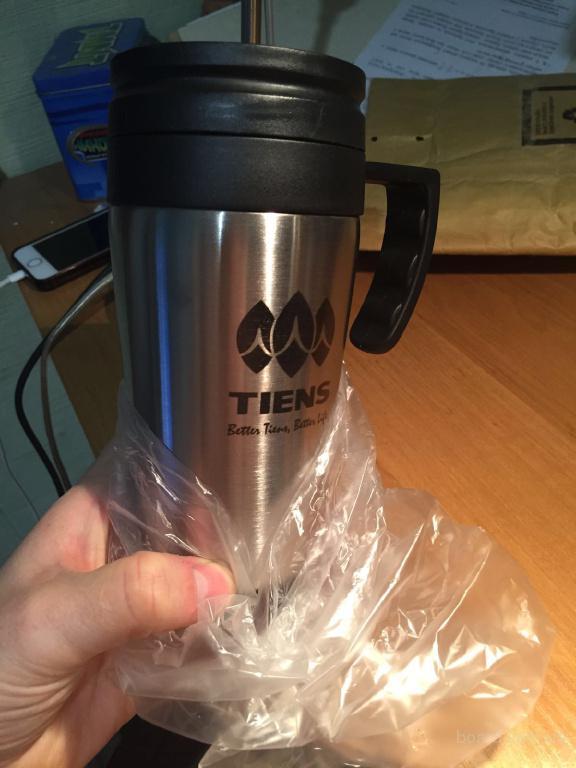 А Термо Чашка Тяньши с логотипом фирмы Тяньши Тиенс Tiens Tianshi