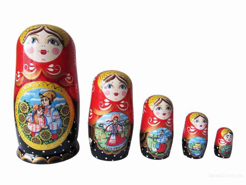 """Матрьошка """"5"""" Український живопис (Пісня для коханої)"""