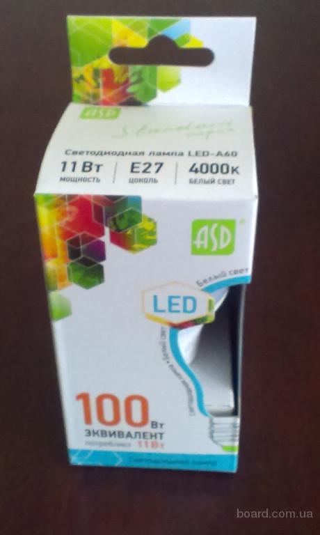 Светодиодная лампа 11Вт (дневной/теплый) ASD
