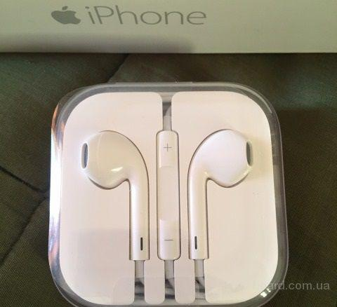 Наушники Apple EarPods для iPhone. Гарантия 1 месяц