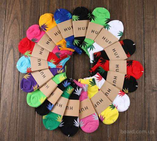 Низькі шкарпетки HUF, унісекс, Носки хаф, унисекс.Оптом и Розница
