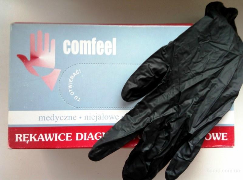 Перчатки нитриловые неопудренные Comfeеl
