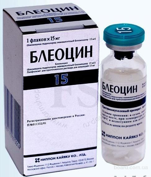 Блеоцин пор. д/ин. 15 мг №1, Nippon Kayaku (Япония)