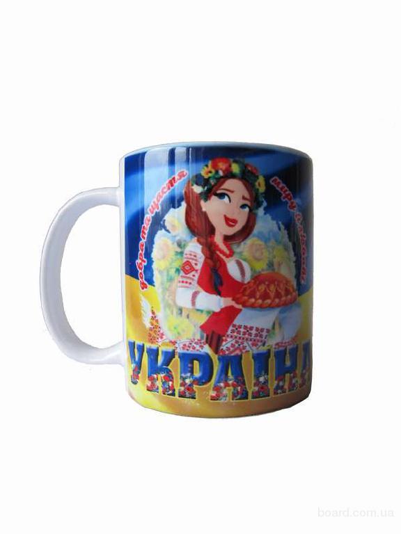 """Чашка біла """"Україна"""""""