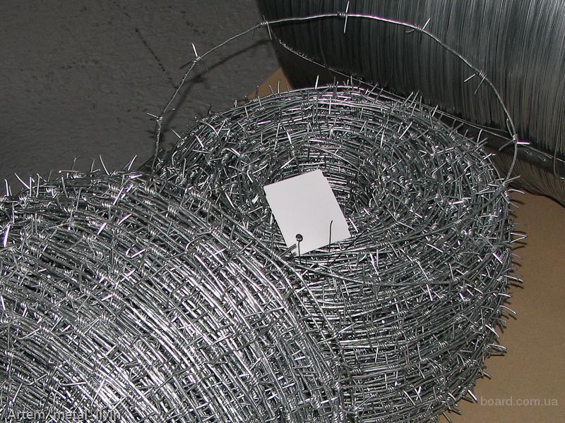 Проволока стальная оцинкованная сварочная колючая вязальная