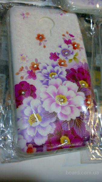 Чехол Meizu MX4 PRO с рисунком со стразами силиконовый  Подбор пленок стекол, чехлов на мобильные