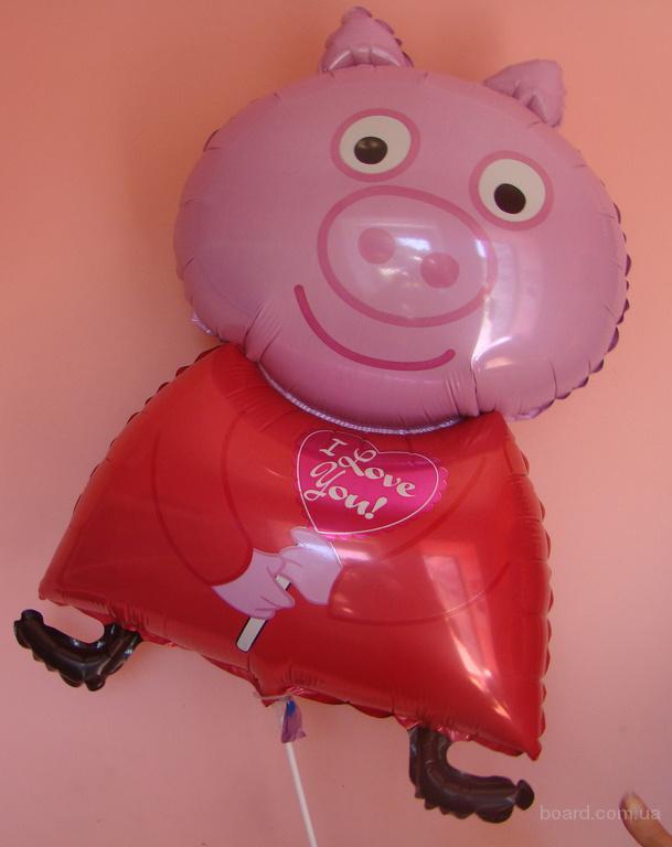Свинка Пеппа , фольгированный фигурный шар!