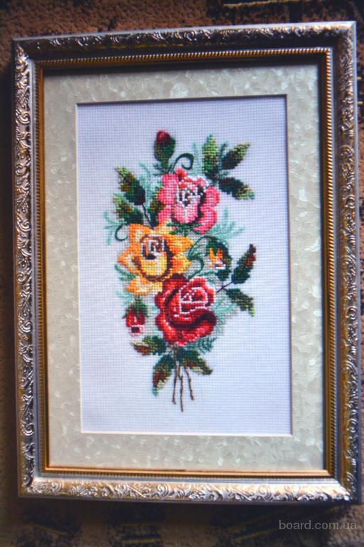 """Вышитая картина ,,Три розы"""""""
