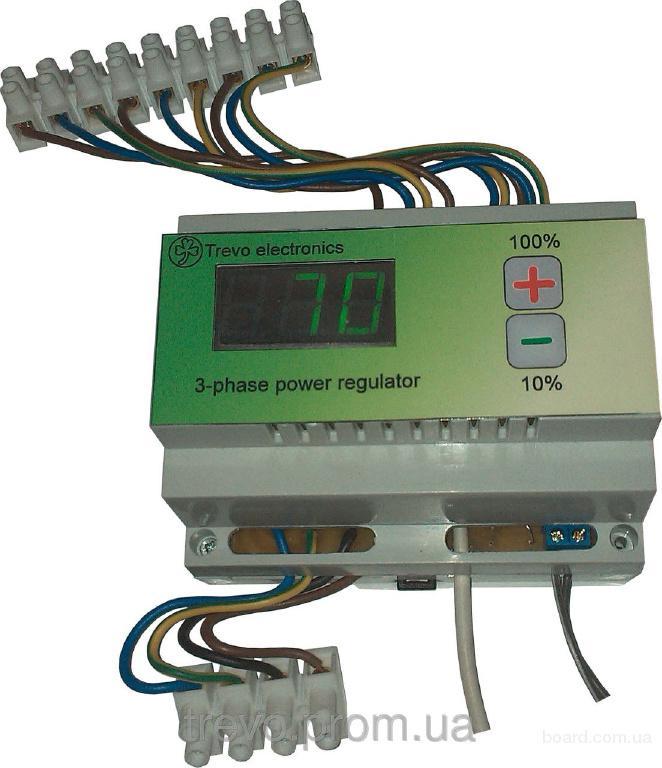 Трехфазный регулятор мощности SEMI-3PH с подключением внешних симисторов.