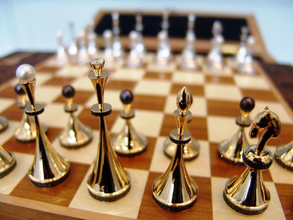 Элитные шахматы золото серебро бриллианты