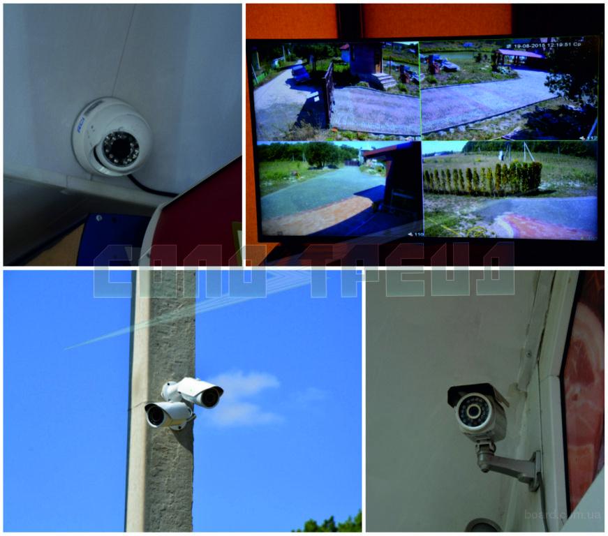 Установка видеонаблюдения (монтаж видеонаблюдения)