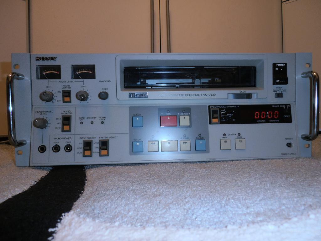 Видеомагнитофон U-Matic Sony VO-7630
