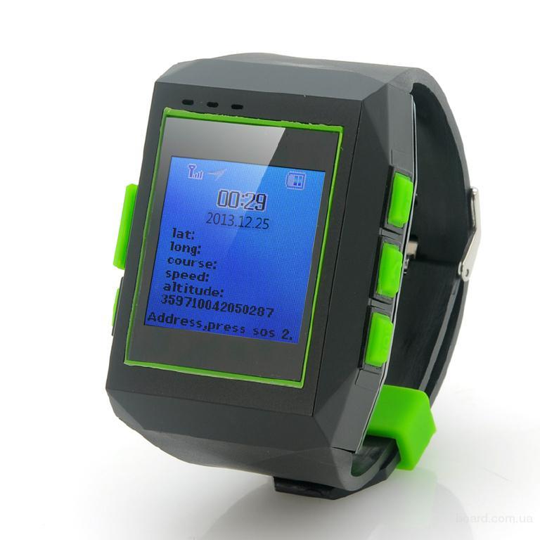 GPS трекер часы GeoLock ( онлайн мониторинг ). ЖК дисплей 1.5