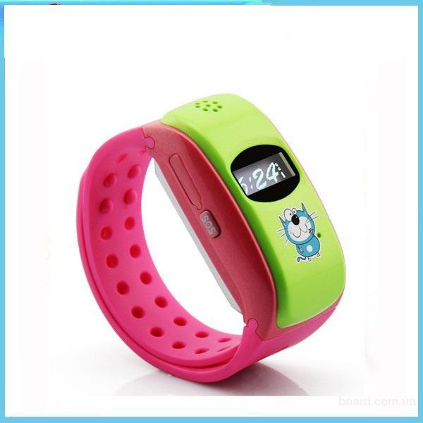 Детские часы Gvaido с GPS трекером G1000. Точность 5 - 10 метров. Цвет: розовый.