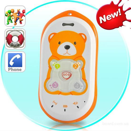 Детский GPS трекер (телефон) Baby Bear. Геоограждение. Точность до 5м