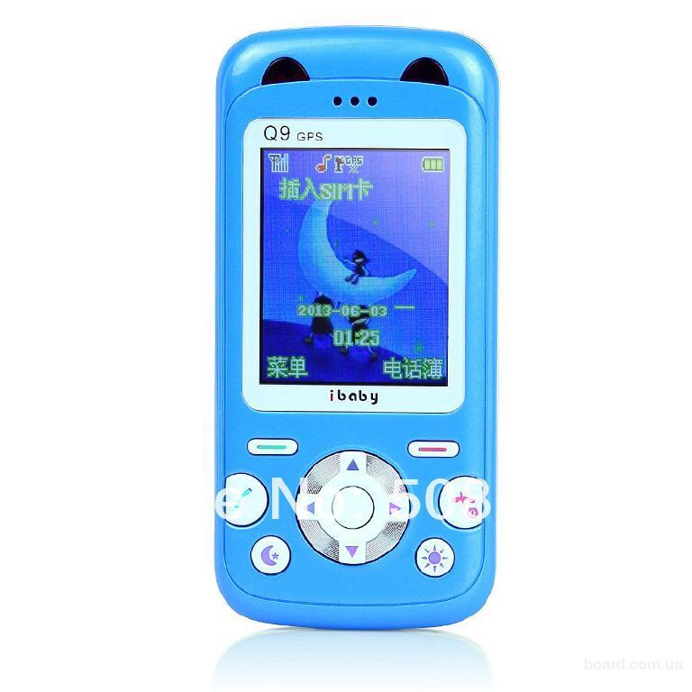 Детский телефон трекер Q9G (мониторинг GPS) полностью на английском языке