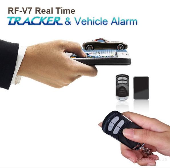 Мини GSM трекер RF-V7, сигнализация, датчик вибрации, ДУ