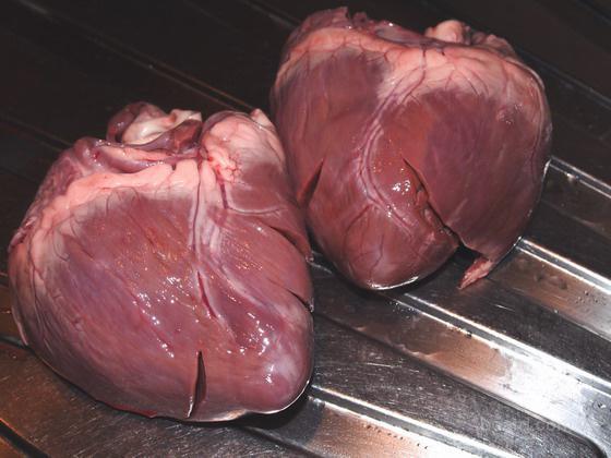 Свиное сердце простой