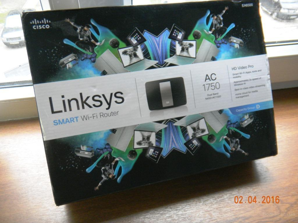 Роутер Linksys EA6500 ver.2 AC1750 2.4/5 gHz, 1Gb LAN, USB3.0,USB2.0