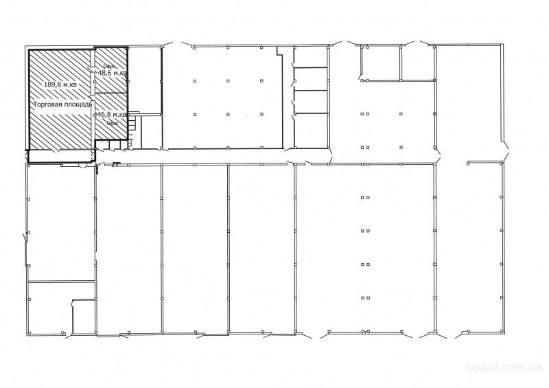 сдам нежилое помещение с отдельным входом на первом этаже общей площадью 285, 2.