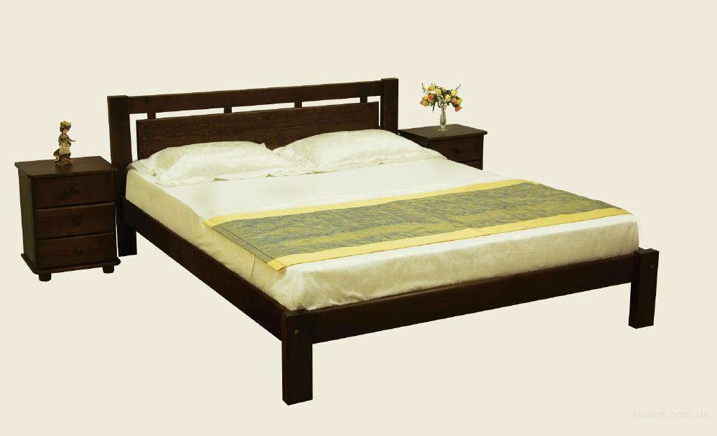 """Кровать из дерева """"Афина"""""""