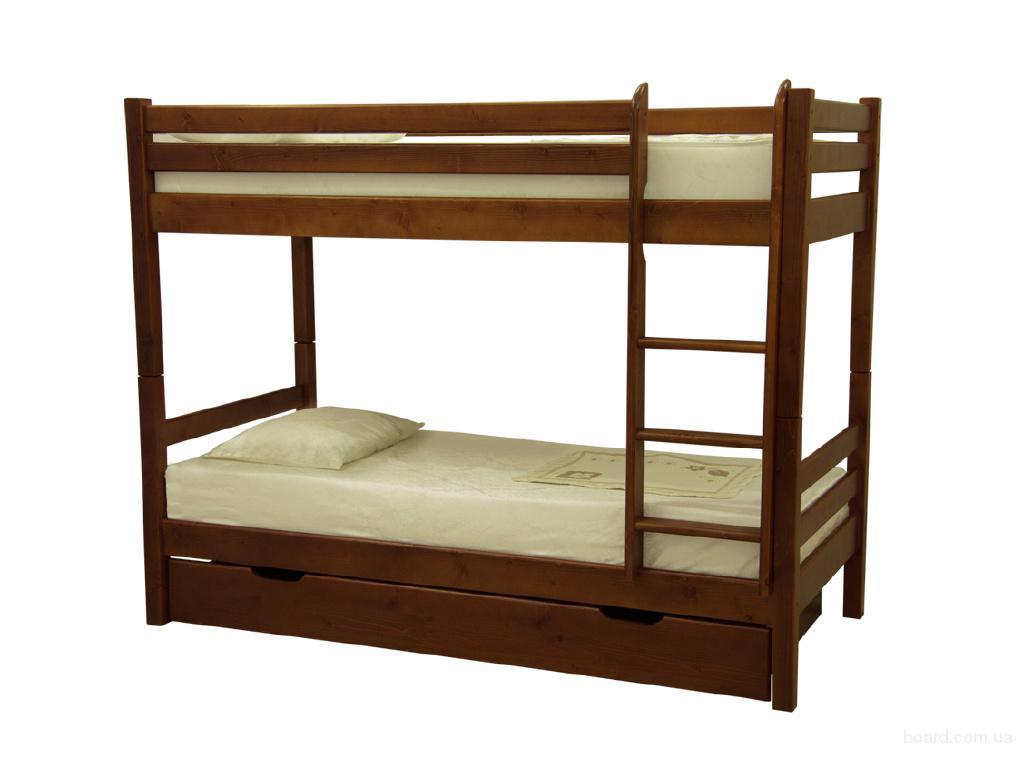 """Кровать из дерева """"Нота плюс"""" детская/подростковая"""