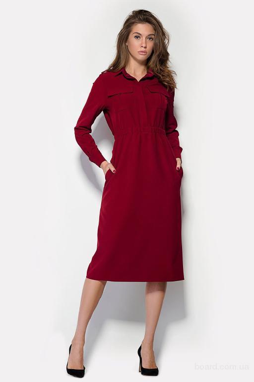 Элегантное платье миди в интернет магазине Aximoda.