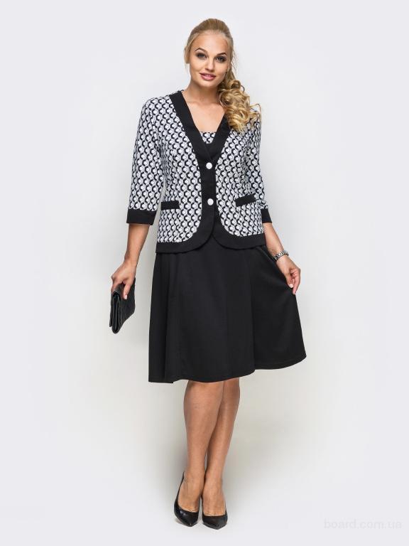 Платье батал с жакетом в интернет магазине Aximoda.