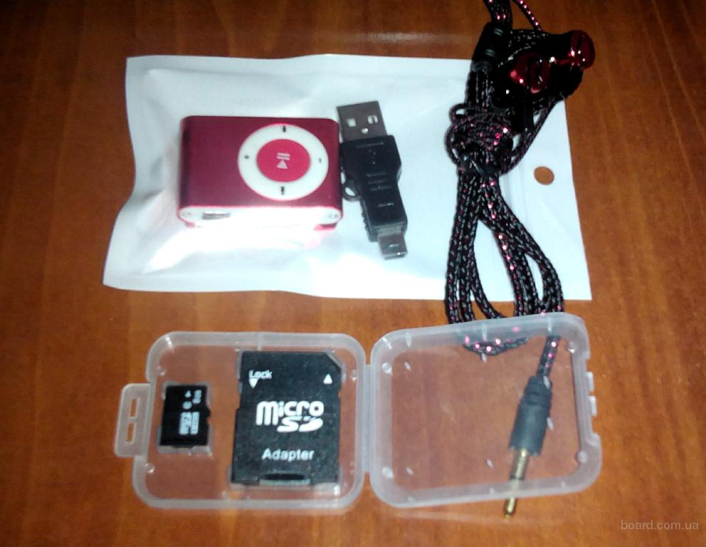 MP3 плеер + Карта 8 Гб + наушники вакуумные - Все новое!!!