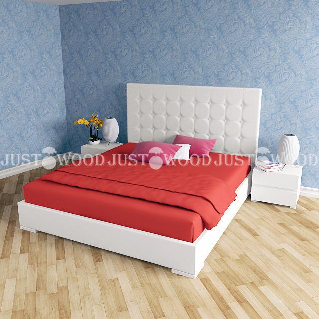 Двуспальная кровать Фемели из натурального дерева