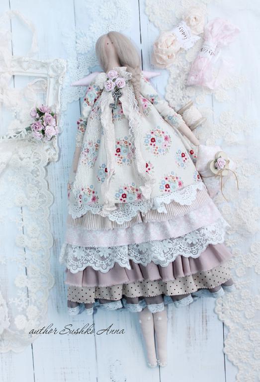 Ангел домашнего уюта в стиле Тильда. Текстильная кукла