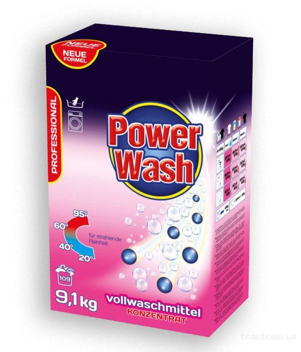 Бесфосфатный стиральный порошок Power Wash Professional 9,1 КГ универсальный